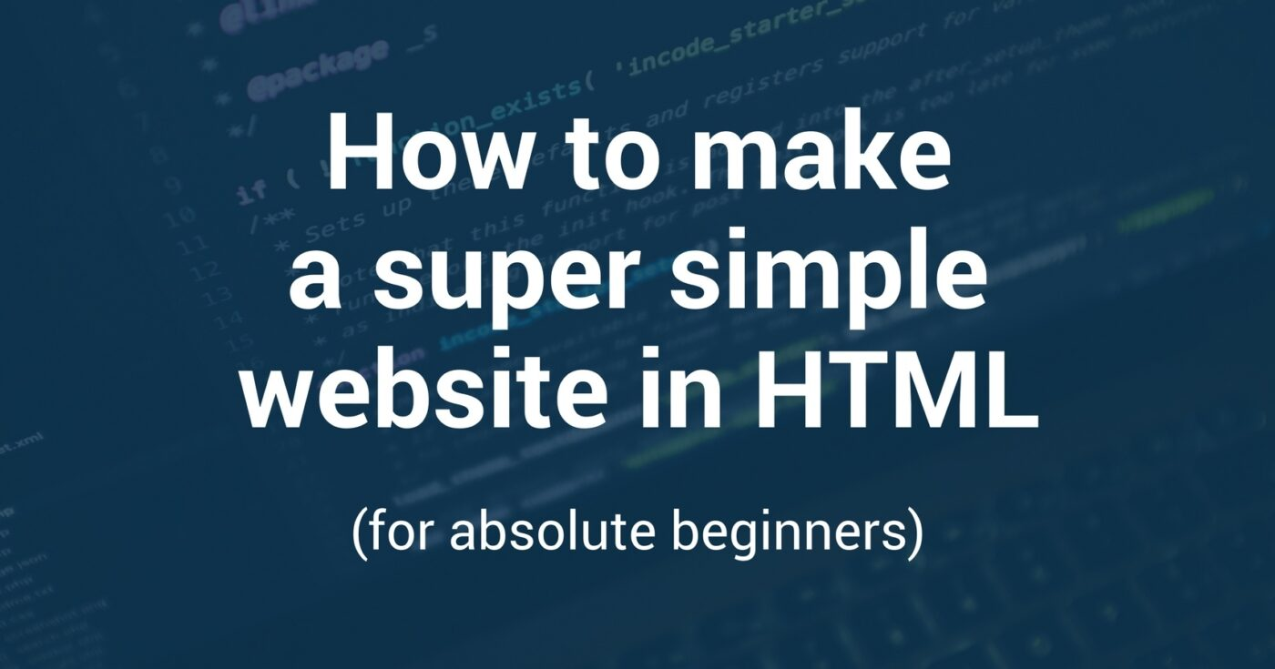 How To Create A Website In Html Step By Step